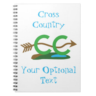 Funny Cross Country Running Hilly Arrow Notebook