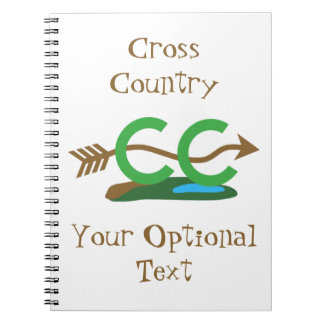 Funny Cross Country Running Hilly Arrow Spiral Notebook