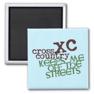Funny Cross Country Running © Keeps me off Streets Magnet