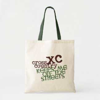 Funny Cross Country Running © Keeps me off Streets Tote Bag
