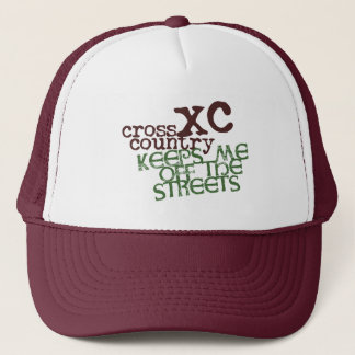 Funny Cross Country Running © Keeps me off Streets Trucker Hat