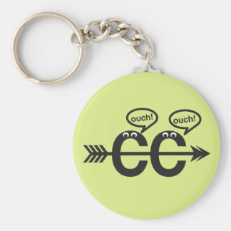 Funny Cross Country Running Keychain - Ouch!