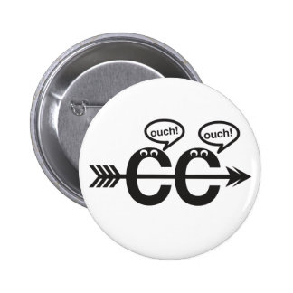 Funny Cross Country Running - Ouch! Pinback Button