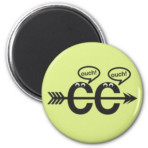 Funny Cross Country Running Runner - Ouch! 2 Inch Round Magnet