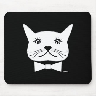 Funny cross-eyed Male Cat, Cool Mouse Pad