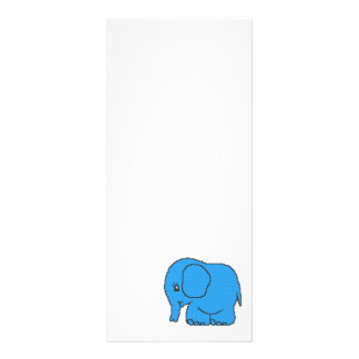 Funny cross-stitch blue elephant rack card