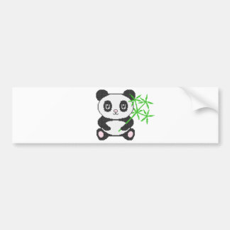 Funny cross-stitch panda bumper sticker