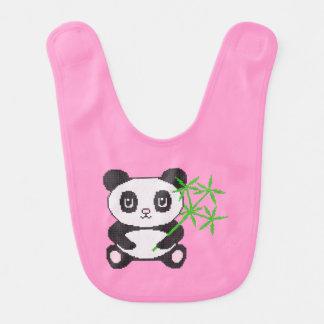 Funny cross-stitch panda baby bibs