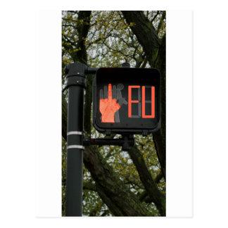 Funny Crosswalk says FU Postcard