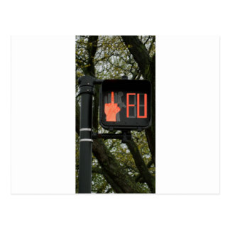 Funny Crosswalk says FU Post Cards