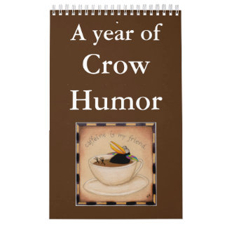 Funny crow illustrations calendar