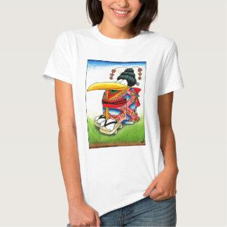 Funny Crow in Kimono T-Shirt