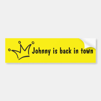 Funny Crown black + your backgr. & text Bumper Sticker