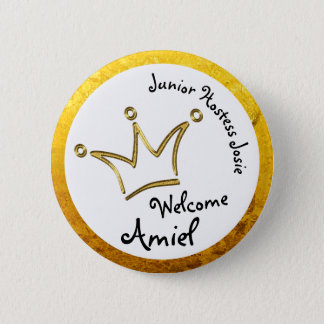 Funny Crown gold - private for Amiel Pinback Button