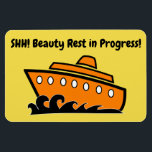 """Funny Cruise Cabin Door Magnet - Beauty Rest<br><div class=""""desc"""">Bring some laughs along on your vacation with this funny magnet to display on your cruise ship cabin or stateroom door!</div>"""