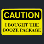 "Funny Cruise Cabin Door Magnet - Booze Package<br><div class=""desc"">Bring some laughs along on your vacation with this funny magnet to display on your cruise ship cabin or stateroom door!</div>"