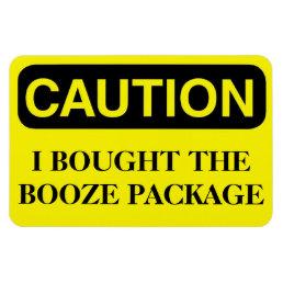 Funny Cruise Cabin Door Magnet - Booze Package