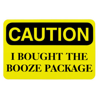 Funny Cruise Cabin Door Magnet - Booze Package