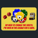 """Funny Cruise Cabin Door Magnet - Casino<br><div class=""""desc"""">Bring some laughs along on your vacation with this funny magnet to display on your cruise ship cabin or stateroom door!</div>"""