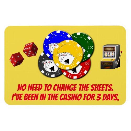 Funny Cruise Cabin Door Magnet _ Casino