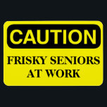 "Funny Cruise Cabin Door Magnet - Frisky Seniors<br><div class=""desc"">Bring some laughs along on your vacation with this funny magnet to display on your cruise ship cabin or stateroom door!</div>"