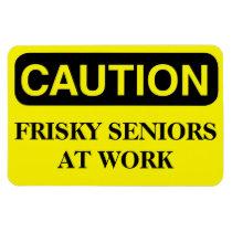 Funny Cruise Cabin Door Magnet - Frisky Seniors