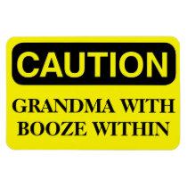 Funny Cruise Cabin Door Magnet - Grandma Booze