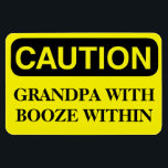 """Funny Cruise Cabin Door Magnet - Grandpa Booze<br><div class=""""desc"""">Bring some laughs along on your vacation with this funny magnet to display on your cruise ship cabin or stateroom door!</div>"""