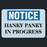 """Funny Cruise Cabin Door Magnet - Hanky Panky<br><div class=""""desc"""">Bring some laughs along on your vacation with this funny magnet to display on your cruise ship cabin or stateroom door!</div>"""