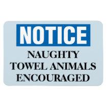 Funny Cruise Cabin Door Magnet - Naughty Towels