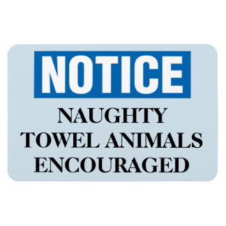 Funny Cruise Cabin Door Magnet - Naughty Towels