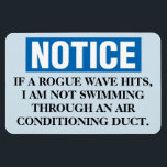 """Funny Cruise Cabin Door Magnet - Rogue Wave<br><div class=""""desc"""">Bring some laughs along on your vacation with this funny magnet to display on your cruise ship cabin or stateroom door!</div>"""