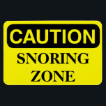 """Funny Cruise Cabin Door Magnet - Snoring Zone<br><div class=""""desc"""">Bring some laughs along on your vacation with this funny magnet to display on your cruise ship cabin or stateroom door!</div>"""