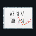 "Funny Cruise Door Marker At the Gym Buffet Magnet<br><div class=""desc"">This design was created though digital art. It may be personalized in the area provide or customizing by choosing the click to customize further option and changing the name, initials or words. You may also change the text color and style or delete the text for an image only design. Contact...</div>"