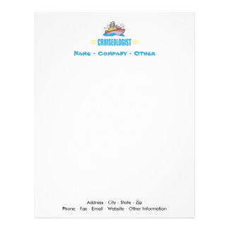 Funny Cruise Ship Travel Agency Vacation Letterhead