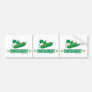 Funny Cucumber Bumper Sticker