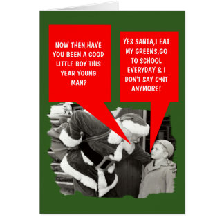 Funny cunt Christmas Card