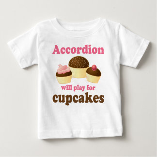 Funny Cupcake Accordion Music Quote Gift Infant T-shirt