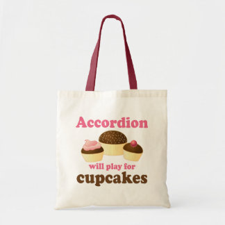 Funny Cupcake Accordion Music Quote Gift Tote Bag