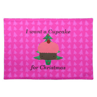 Funny cupcake christmas gifts place mat