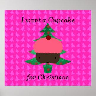 Funny cupcake christmas gifts poster