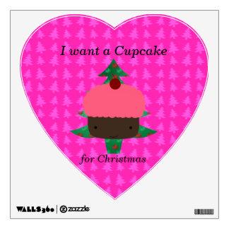 Funny cupcake christmas gifts wall skin