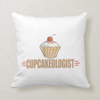 Funny Cupcake Throw Pillows