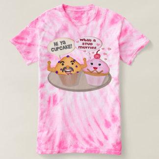 Funny Cupcake Stud Muffin Tie-Dye T-Shirt