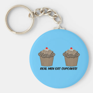funny cupcakes basic round button keychain