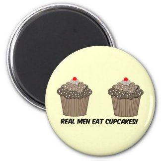 funny cupcakes 2 inch round magnet