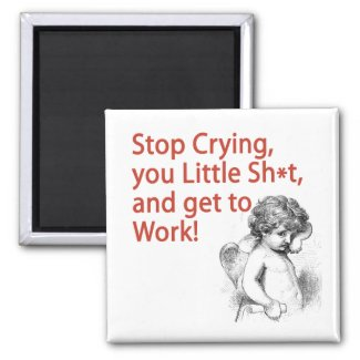 Funny Cupid Anti-Vday Magnet magnet