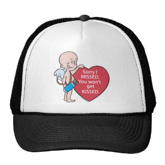 Funny Cupid Missed Anti-Vday Products Mesh Hats