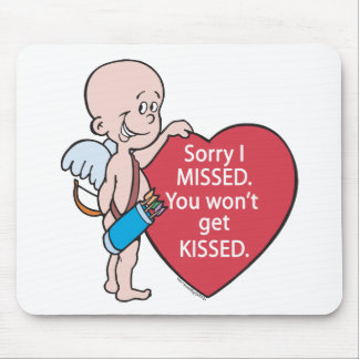 Funny Cupid Missed Anti-Vday Products Mouse Pad