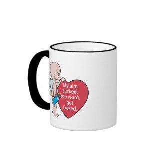 Funny Cupid's Aim Sucks Mug mug